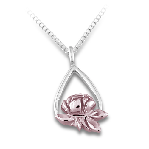 Memorial Tear Rose® 14K 2-Tone Gold Pendant