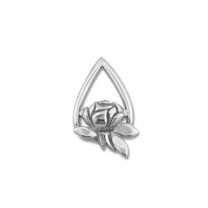 Memorial Tear Rose® Sterling Silver Lapel Pin