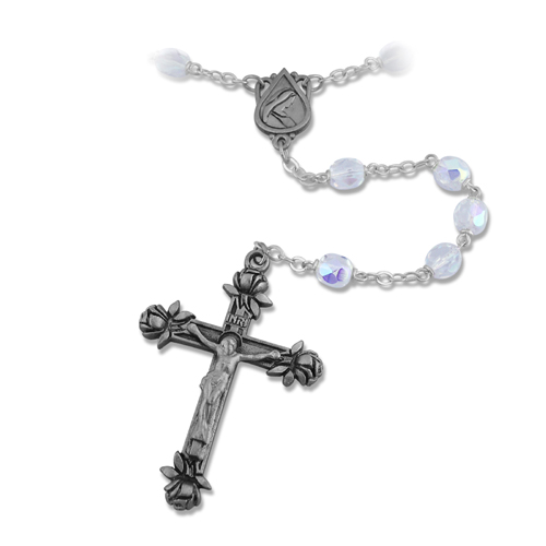 Memorial Tear® ROSARY With Pewter Crucifix & Center