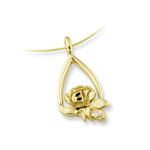 Memorial Tear Rose® 14K Gold Pendant
