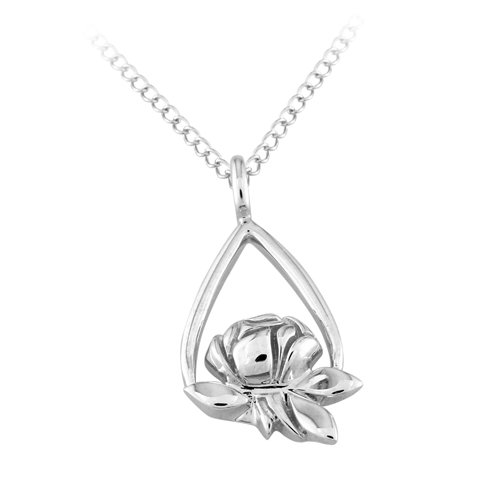 Memorial Tear Rose® Sterling Silver Pendant