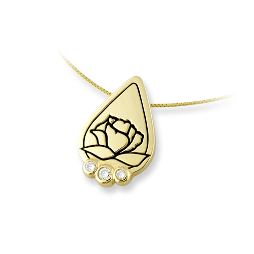Memorial Tear® 14K Gold Pendant