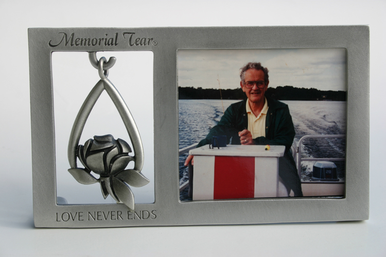 Memorial Tear® Pewter ORNAMENT & PHOTO FRAME